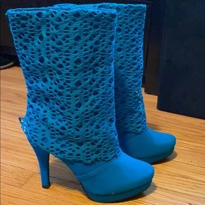 Shoes - Teal Blue Boots